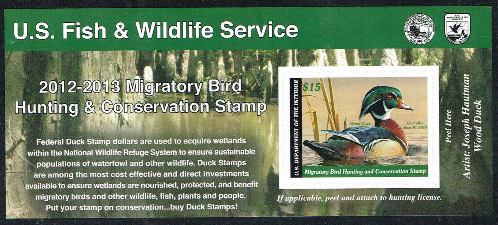2012-2013 Federal Duck Stamp