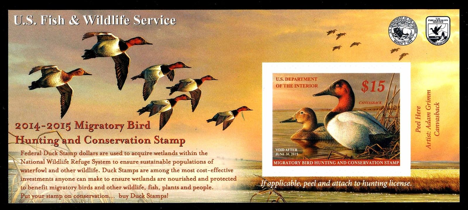 2014-2015 Federal Duck Stamp